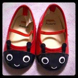 Gymboree Ladybug Baby Shoes 6-12 Months EUC sz 3